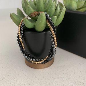 Jewelry - Vintage Hematite Triple Stand Bracelet